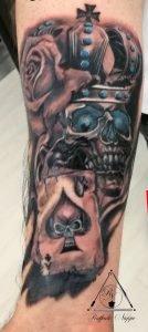 Tattoo realistico teschio
