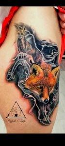 Tattoo realistico volpe